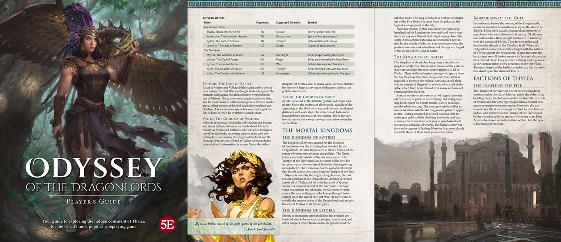 Odyssey of the Dragonlords: Player's Guide - PDF (FREE