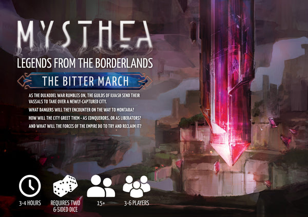 Mysthea Legends of the Borderlands: The Bitter March - FREE Quickstart - Modiphius Entertainment