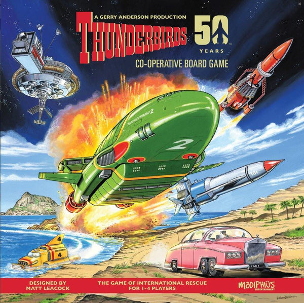 Thunderbirds Co-operative Board Game PLUS All three expansions: White Box Edition