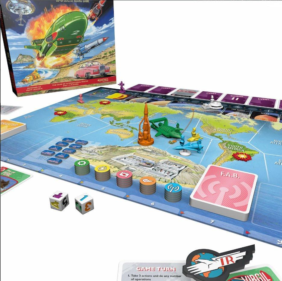 Thunderbirds Board Game + Tracy Island Expansion #1 bundle