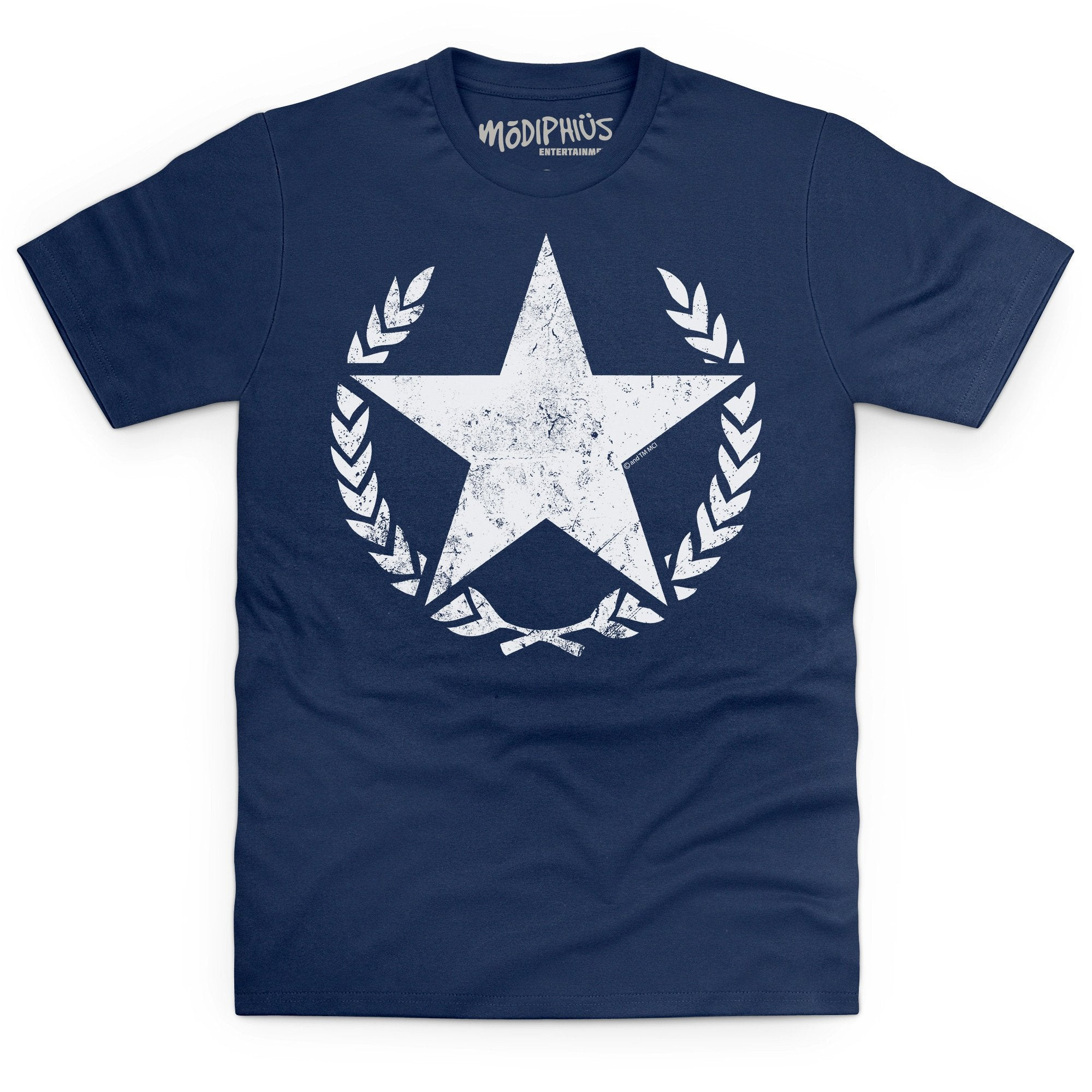 Whitestar distressed t-shirt
