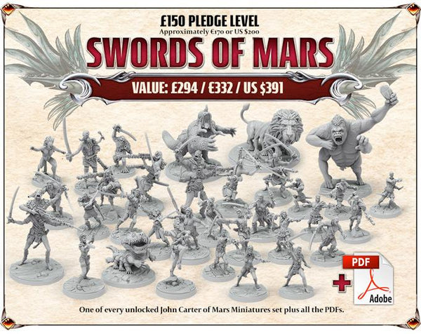 John Carter of Mars Miniatures Collection - Late Pledge
