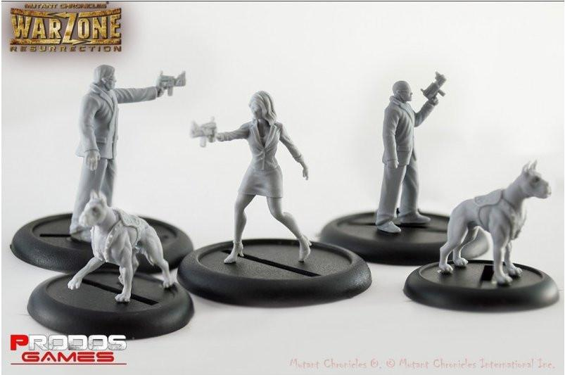 Mutant Chronicles Miniatures: Corporate Agents set
