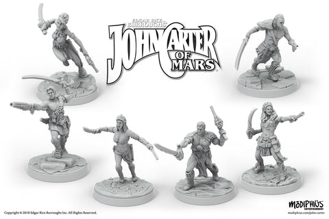 John Carter Miniatures: Heroes of Helium Miniatures Set - Modiphius Entertainment