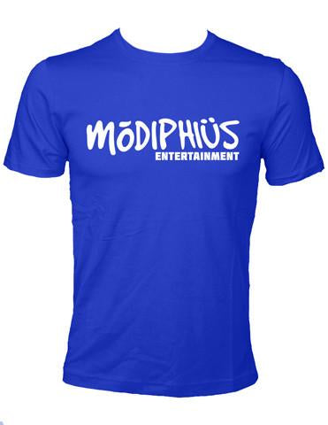 Modiphius Entertainment Logo Blue T-shirt