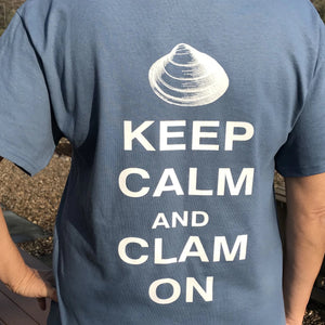 "T-Shirt ""Keep Calm"" Indigo Blue"