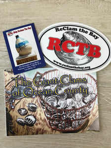Giant Clam Book with Clam Card and RCTB Sticker