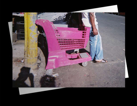 Pink trolley seat