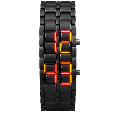 Metal Wrist Watch - LED Digital Watches for Men