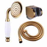 Antique Brass Shower Head Set