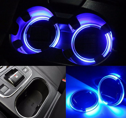 2 Pack Long Lasting LED Car Cup Holder