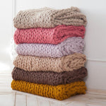 Handmade Knit Throw