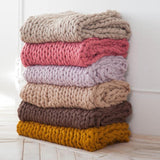 Handmade Giant Knit Throw