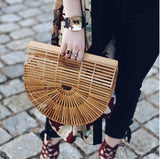 Semi-Circular Bamboo Bag