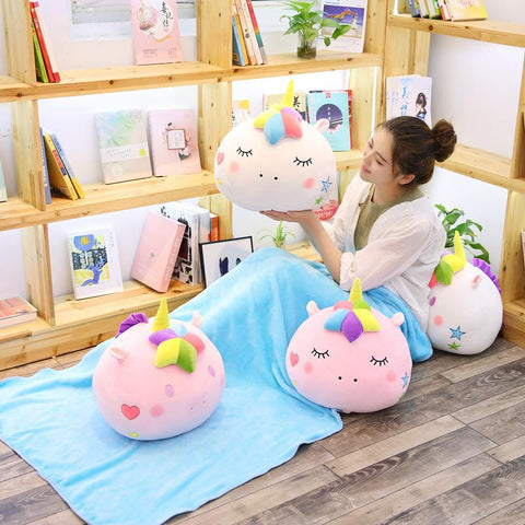2 in 1 Kawaii Unicorn Blanket