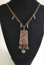 Load image into Gallery viewer, CD0307 ~ Handmade Copper and Czech Glass Beaded Necklace