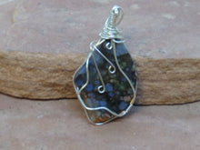 Load image into Gallery viewer, CD0243  Puddingstone Jasper Wire Wrapped Necklace