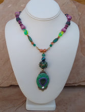 Load image into Gallery viewer, CD0268  Hand Crafted Mixed Polymer Clay and Czech Glass Beaded Necklace