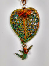 Load image into Gallery viewer, CD0185  Hand Altered Copper Leaf Czech Glass Beaded Necklace