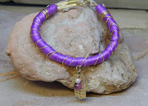 CD0130 Hand Crafted Wire Wrapped Bracelet