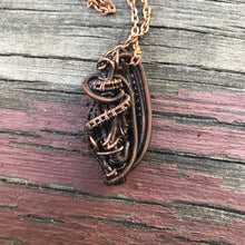 Load image into Gallery viewer, CD0284 ~  Pink Tourmaline in a Copper Wire Wrapped/Weaved Free Form Pendant