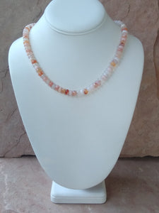 "CD0311  18"" Long Cherry Blossom Gemstone Necklace"