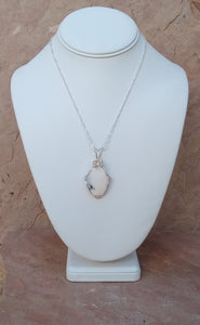CD0163 Hand Crafted Dendritic Opal Wire Wrapped Necklace