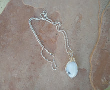 Load image into Gallery viewer, CD0163 Hand Crafted Dendritic Opal Wire Wrapped Necklace