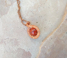 Load image into Gallery viewer, CD0167 Artisan Hand Crafted Wire Weaved Red Jasper Gemstone Pendant And Necklace