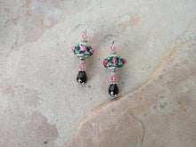 Load image into Gallery viewer, CD0192  Handmade Lamp Work Glass Beaded Earrings