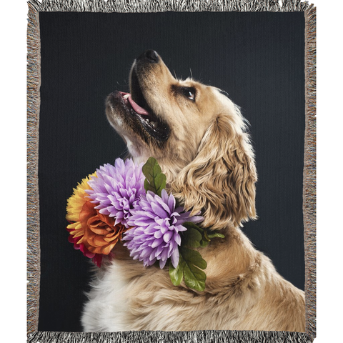 Opulent Dezignz Fancy Dog Woven Blankets