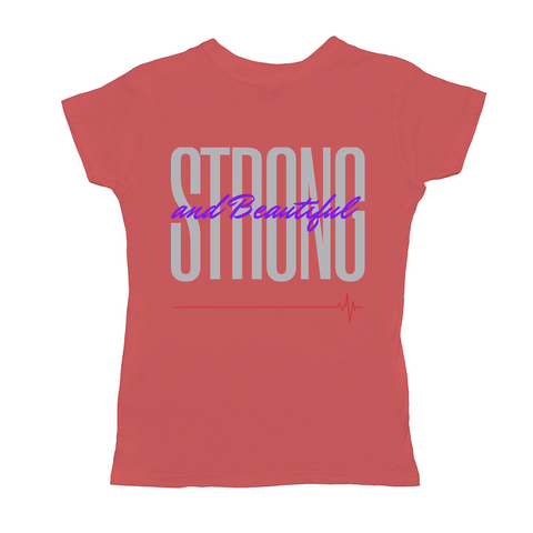 OPULENT DEZIGNZ™ Strong and Beautiful Inspirational Ladies T-Shirts
