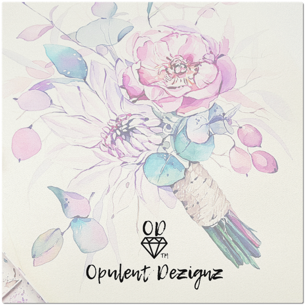 OPULENT DEZIGNZ™ Flowers Bloom Signature Inspirational Placemats