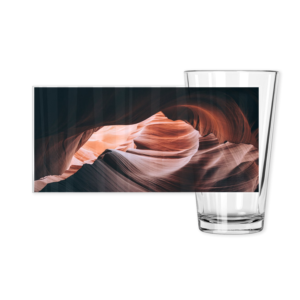 OPULENT DEZIGNZ™ Inside the Canyons Inspirational Pint Glasses