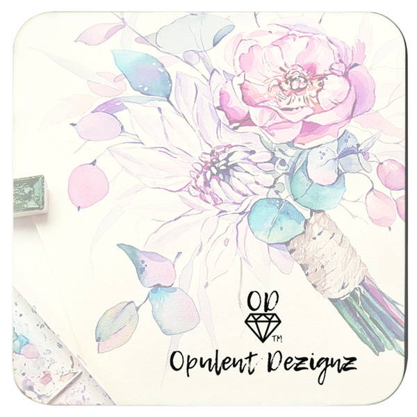 OPULENT DEZIGNZ™ Flowers Bloom Signature Coasters
