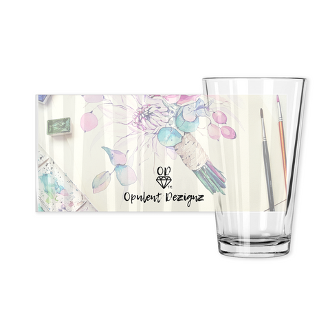 OPULENT DEZIGNZ™ Flowers Bloom Signature Pint Glasses