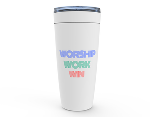 Opulent Dezignz™ Worship, Work, Win Viking Tumblers