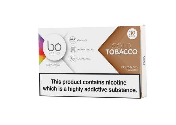 Bo Caps Gold Tobacco 3 Pack - Vapespot