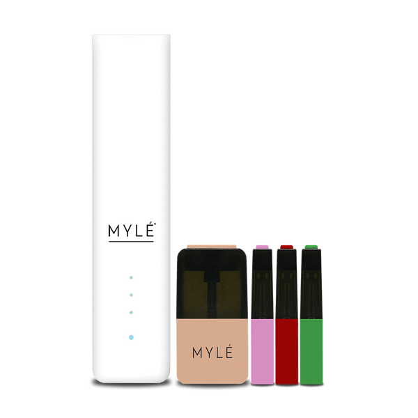 MYLÉ Starter Kit with Pods - Elite White V4 - Vapespot