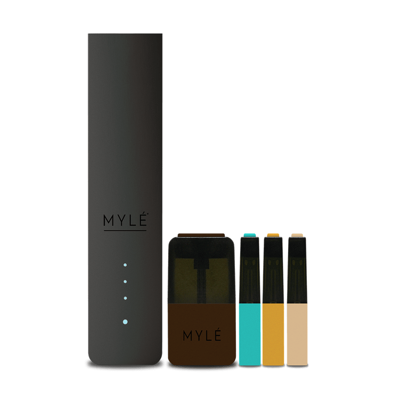 MYLÉ Starter Kit with Pods - Jet Black V4 | Vapespot
