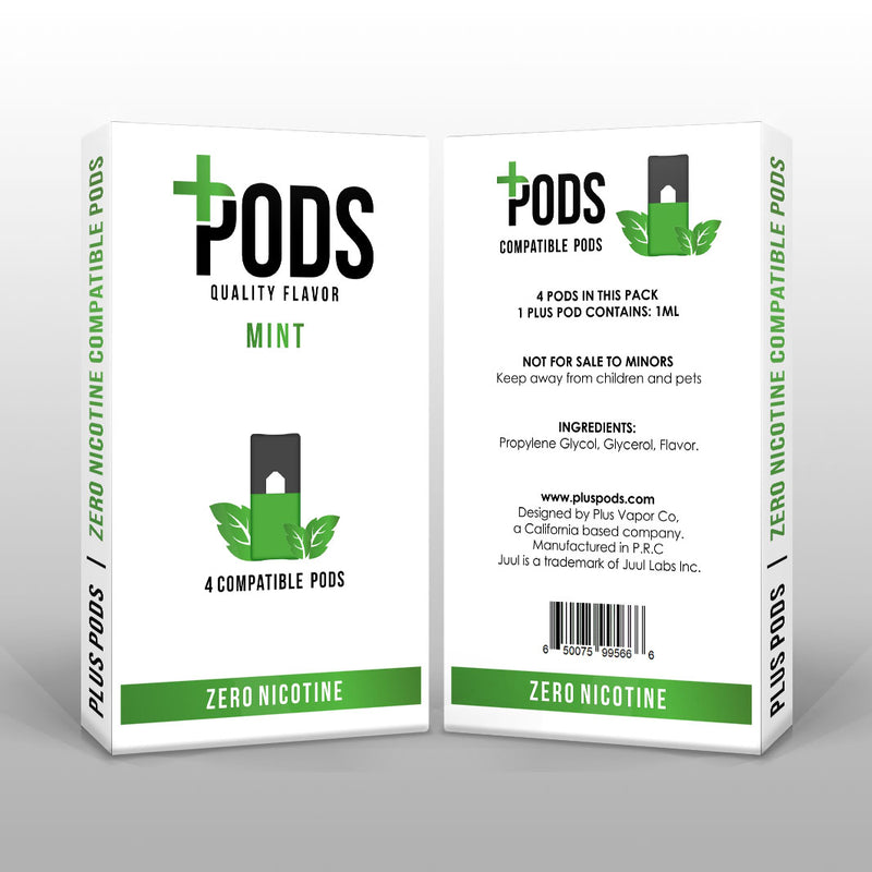 Plus Pods Mint 4 Pack (Zero Nicotine) *JUUL Compatible* - Vapespot