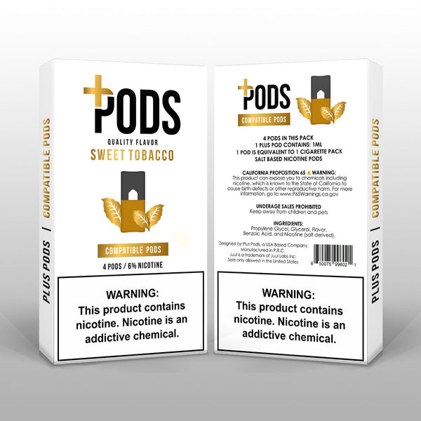 Plus Pods Sweet Tobacco 4 Pack *JUUL Compatible* - Vapespot