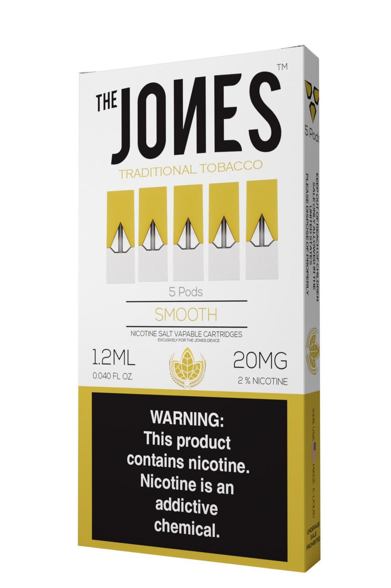 The Jones Pods Smooth Tobacco 5 Pack *JUUL Compatible* - Vapespot