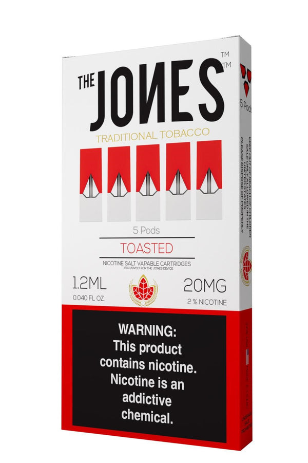 The Jones Pods Toasted Tobacco 5 Pack *JUUL Compatible* - Vapespot