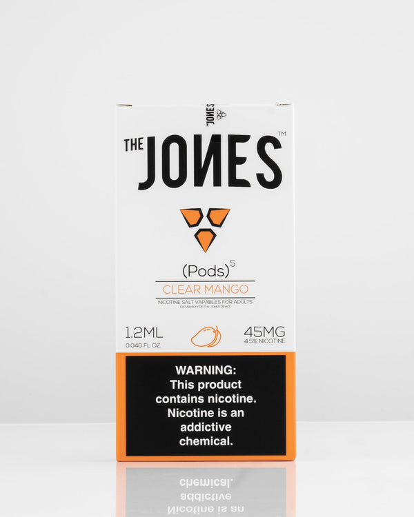 The Jones Pods Clear Mango 5 Pack *JUUL Compatible* | Vapespot