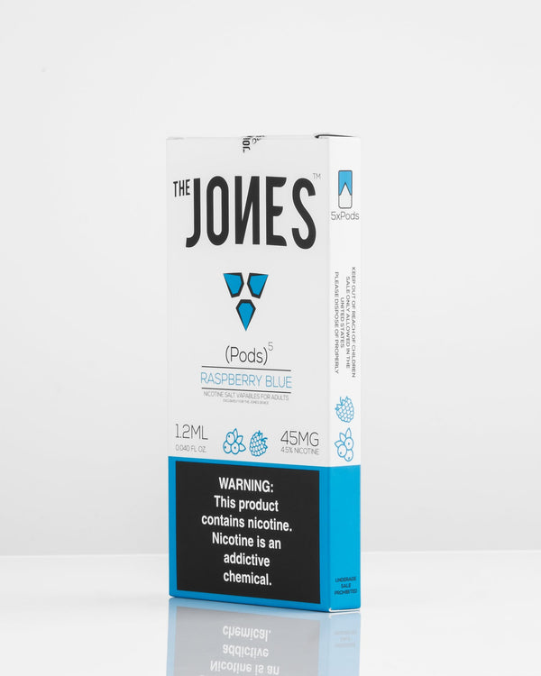 The Jones Pods Raspberry Blue 5 Pack *JUUL Compatible* - Vapespot