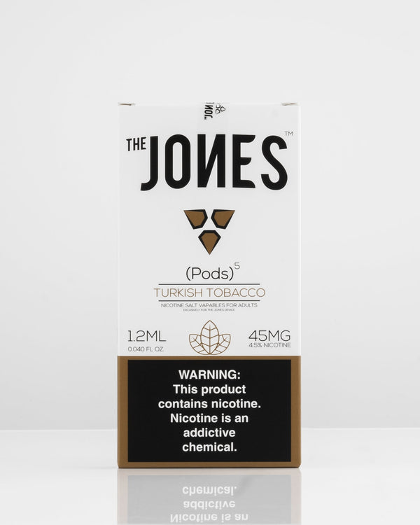 The Jones Pods Turkish Tobacco 5 Pack *JUUL Compatible* - Vapespot