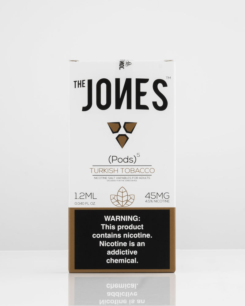 The Jones Pods Turkish Tobacco 5 Pack *JUUL Compatible* | Vapespot