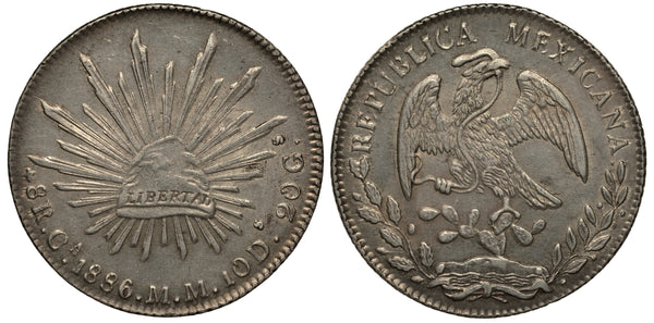 1886 Mexican Peso Coin (front and back)