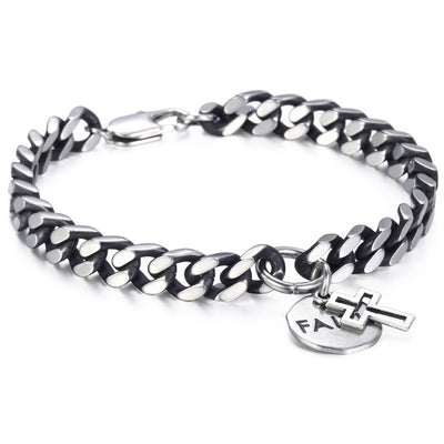 Stainless Steel Faith Bracelet